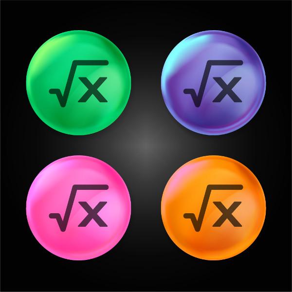 Raiz quadrada de um número qualquer, representado por x.