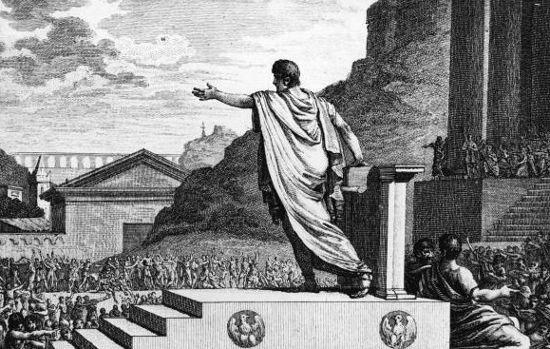 Tribuno da plebe, Caio Graco tentou realizar profundas reformas sociais e acabou pagando essa tentativa com a própria vida.[1]