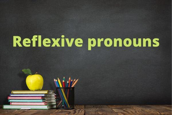Os reflexive pronouns possuem diversos contextos de uso, não apenas os que temos na língua portuguesa.
