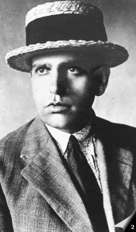 Retrato de Oswald de Andrade tirado em 1920.
