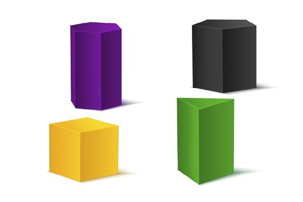 Os prismas podem ter diferentes formatos.