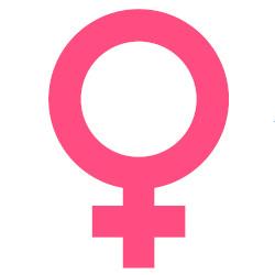 símbolo do gênero feminino