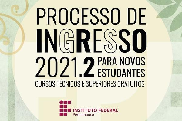 Vestibular 2021/2 do IFPE oferece quase 3 mil vagas