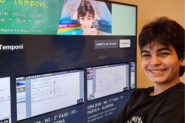 Caio Temponi tem um canal de vídeos para auxiliar alunos em seus estudos