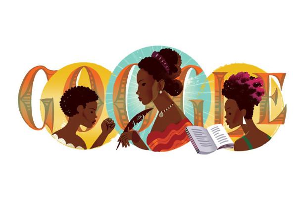 Maria Firmina é homenageada pelo Google pelo aniversário de 194 anos / Crédito da Foto: Google
